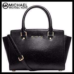 MICHAEL KORS Large Leather Selma Satchel